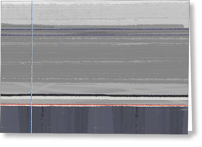 Linear Greeting Cards - Abstract Grey Greeting Card by Naxart Studio