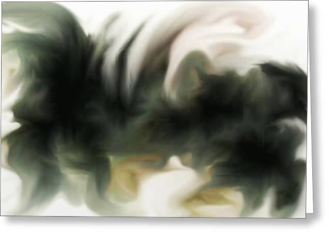 Gina Lee Manley Greeting Cards - Abstract Gryphon  Greeting Card by Gina Lee Manley