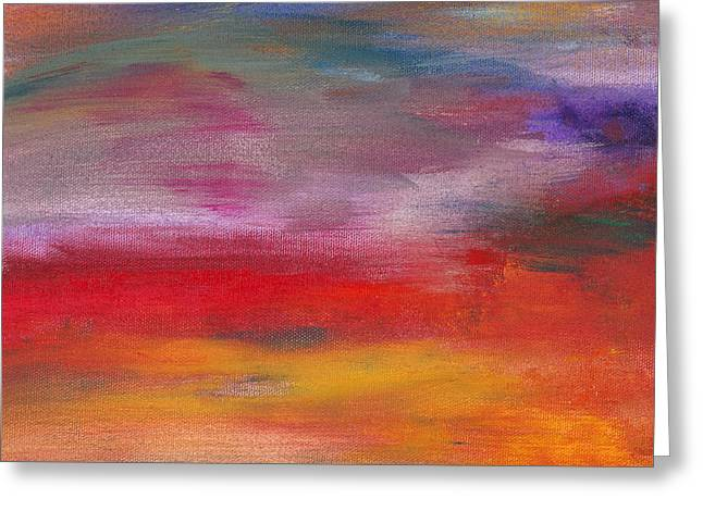 Abstract - Guash and Acrylic - Pleasant Dreams Greeting Card by Mike Savad