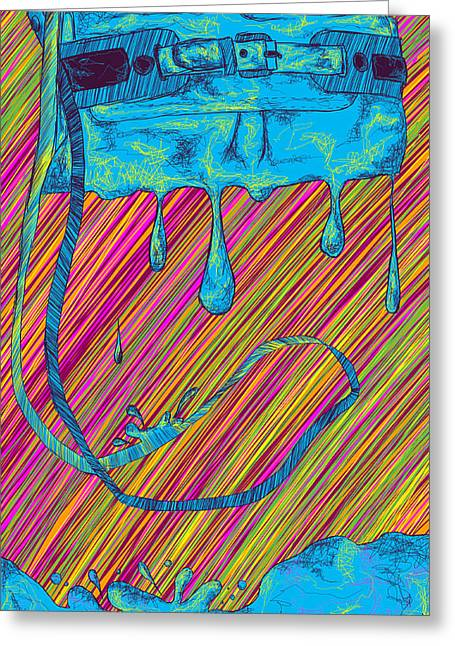Kenal Louis Greeting Cards - Abstract Handbag Drips Color Greeting Card by Kenal Louis