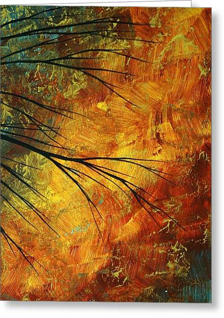 Recently Sold -  - Whimsical. Greeting Cards - Abstract Landscape Art PASSING BEAUTY 5 of 5 Greeting Card by Megan Duncanson