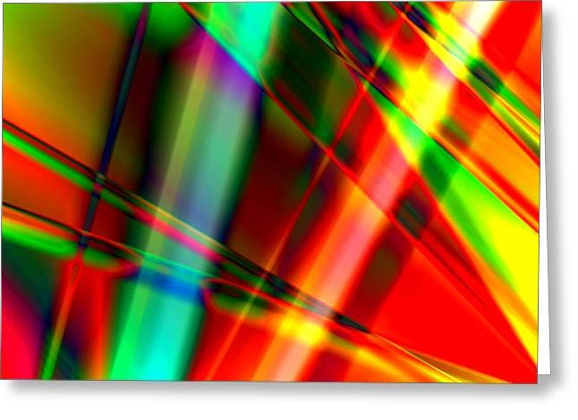 Susan Leggett Greeting Cards - Abstract Light Colors Greeting Card by Susan Leggett