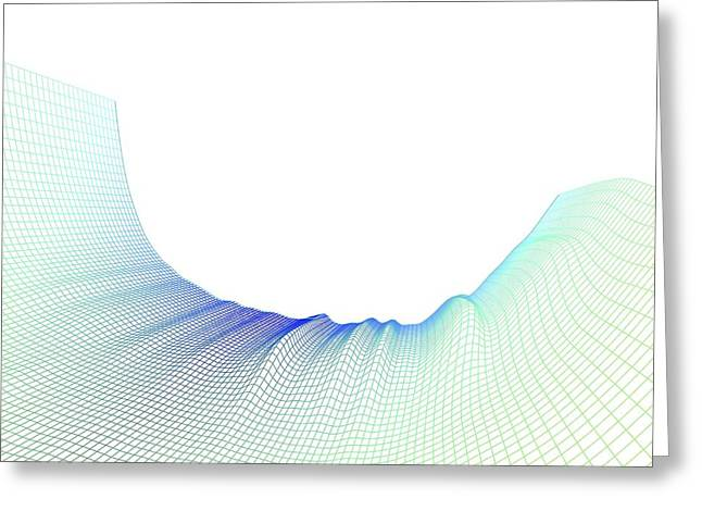 Intricate Cuts Greeting Cards - Abstract Line Pattern Greeting Card by Pasieka