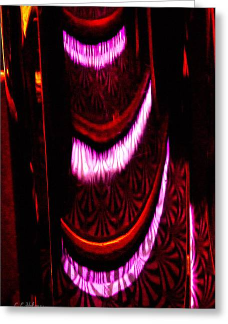 Abstract Magentas Greeting Card by Christopher Holmes