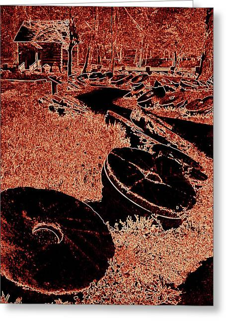 Levi Greeting Cards - Abstract Mill Stones Levi Jackson Greeting Card by Cindy Wright