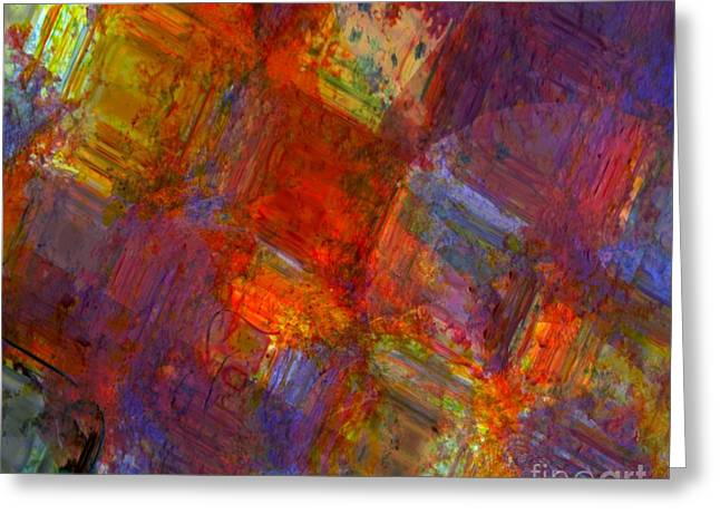 Treatment Mixed Media Greeting Cards - Abstract Moments Greeting Card by Fania Simon