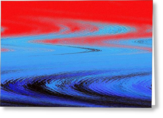 Etc. Paintings Greeting Cards - Abstract Nixo Greeting Card by Nicholas Nixo