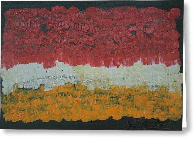 Pallet Knife Mixed Media Greeting Cards - Abstract number 6 Greeting Card by James Johnson