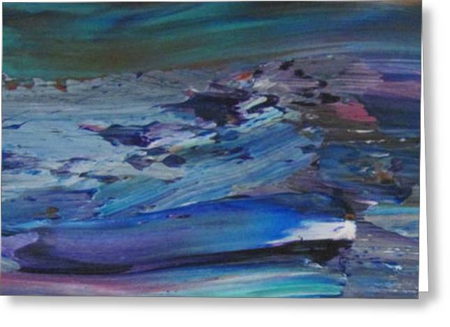 Abstract Waves Greeting Cards - Abstract Ocean - close up 9 Greeting Card by Anita Burgermeister