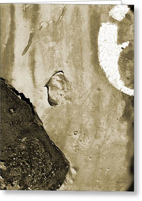 Cracked Stone Greeting Cards - Abstract of the Roads Greeting Card by Jan Faul