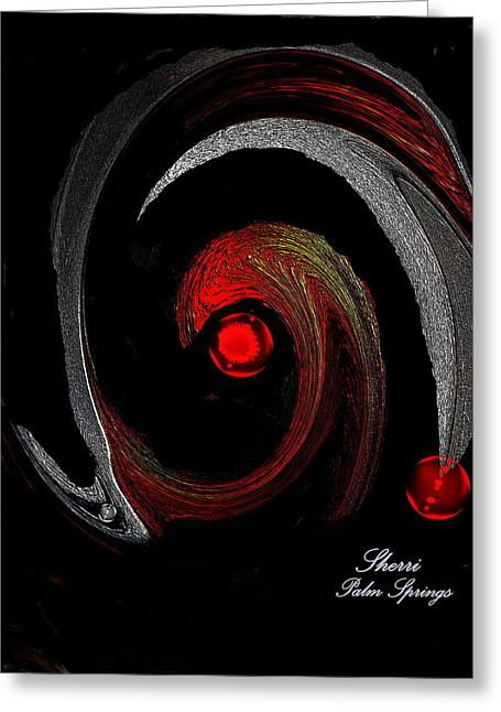 Digital Art Greeting Cards - Abstract of Tim Greeting Card by Sherri  Of Palm Springs