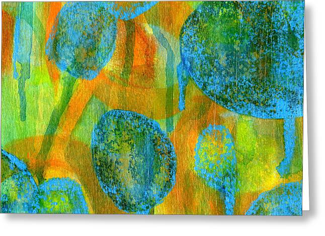 Chromatic Greeting Cards - Abstract Painting No. 1 Greeting Card by David Gordon