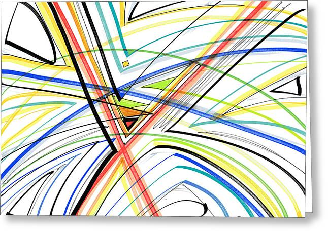 Pen And Ink Drawing Greeting Cards - Abstract Pen Drawing Eighteen Greeting Card by Lynne Taetzsch