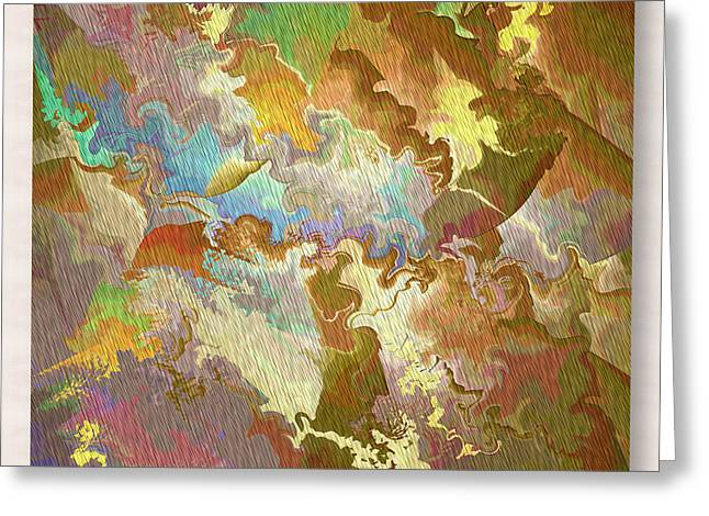 Abstract Puzzle Greeting Card by Deborah Benoit