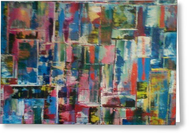 Abstract quilt 2 Greeting Card by Robert Anderson