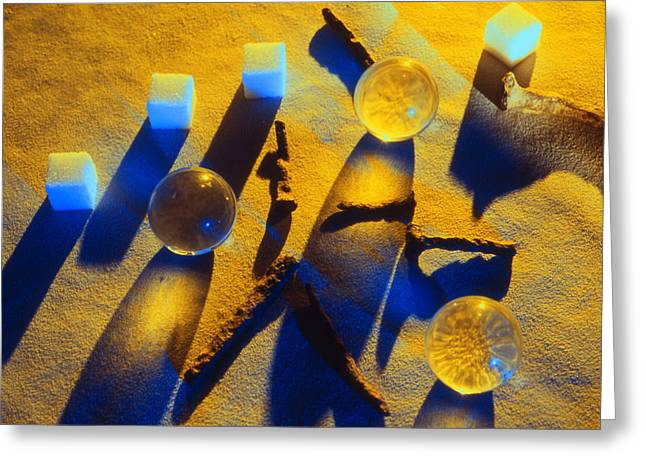 Sugar Cube Greeting Cards - Abstract Shadows and Light Greeting Card by Ron Schwager