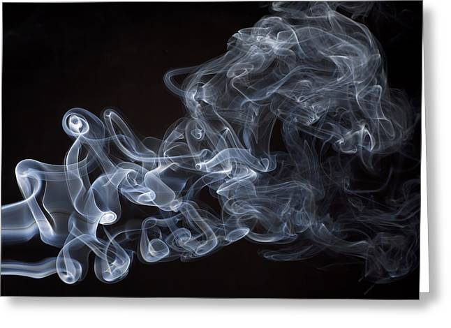 Abstract Smoke Running Horse Greeting Card by Setsiri Silapasuwanchai