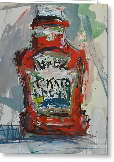 Heinz Paintings Greeting Cards - Abstract Still Life Painting Greeting Card by Robert Joyner