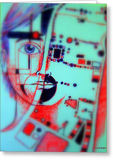 Mental Process Mixed Media Greeting Cards - Abstract Thought Greeting Card by Paulo Zerbato