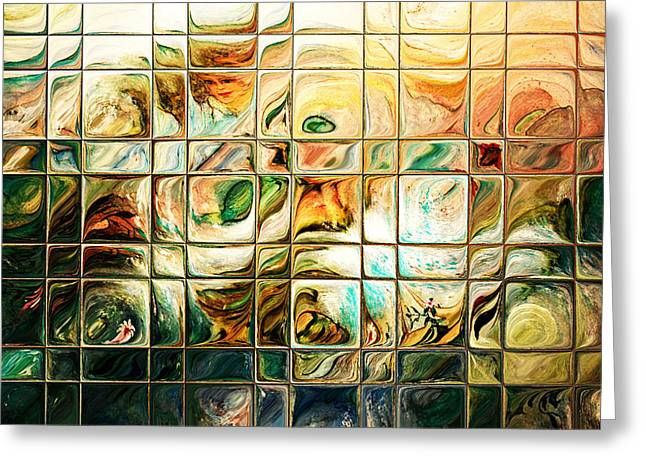 Intuitive Greeting Cards - Abstract-Through Glass Greeting Card by Patricia Motley