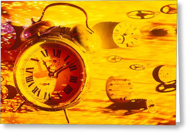 Abstract Time Greeting Cards - Abstract time Greeting Card by Garry Gay