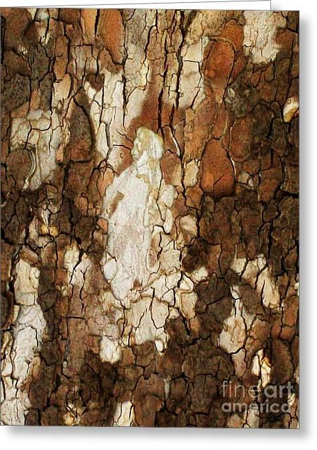 Redish Greeting Cards - Abstract Tree Bark Greeting Card by Marsha Heiken