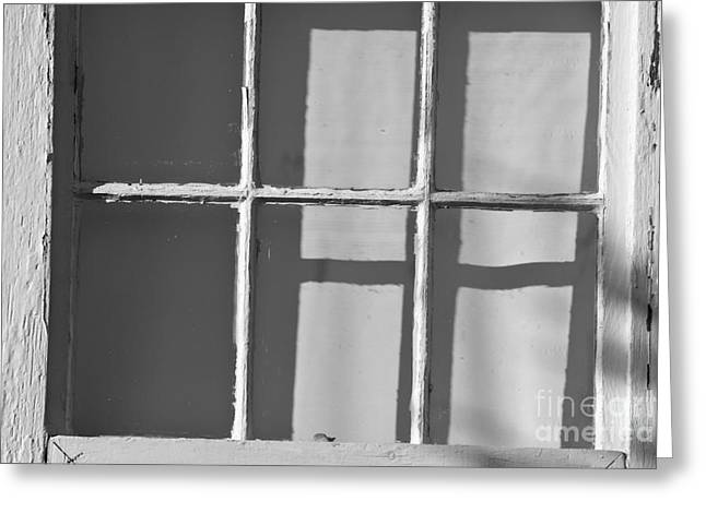 Abstract Window In Light And Shadow Greeting Card by David Gordon