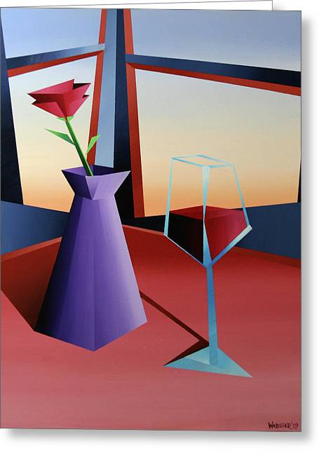 Table Wine Greeting Cards - Abstract Wine at Sunset 1 Greeting Card by Mark Webster