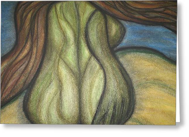 Breezy Pastels Greeting Cards - Abstract Woman Greeting Card by Tracy Fallstrom