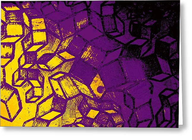Abstract Digital Photographs Greeting Cards - Abstract Zinc Etching Plate Greeting Card by Chris Berry