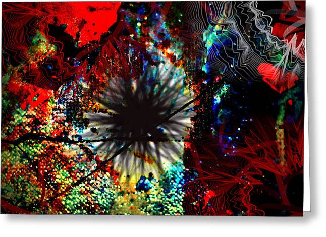 Alberta Prints Greeting Cards - Abstracted  Greeting Card by Jerry Cordeiro