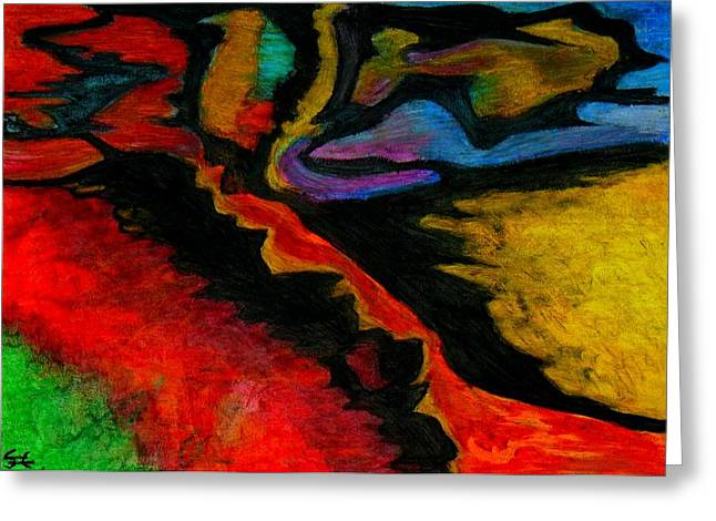 Abstractions Pastels Greeting Cards - Abstraction I Greeting Card by Carla Sa Fernandes