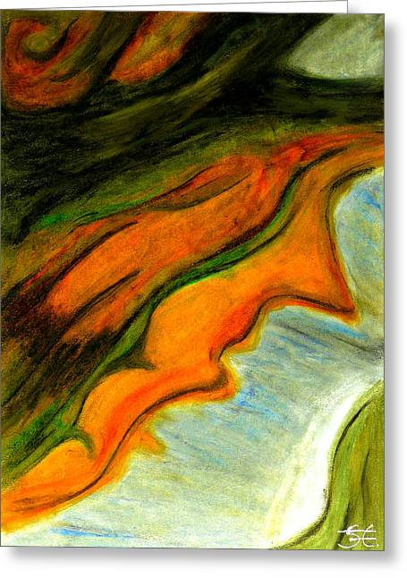Abstractions Pastels Greeting Cards - Abstraction II Greeting Card by Carla Sa Fernandes