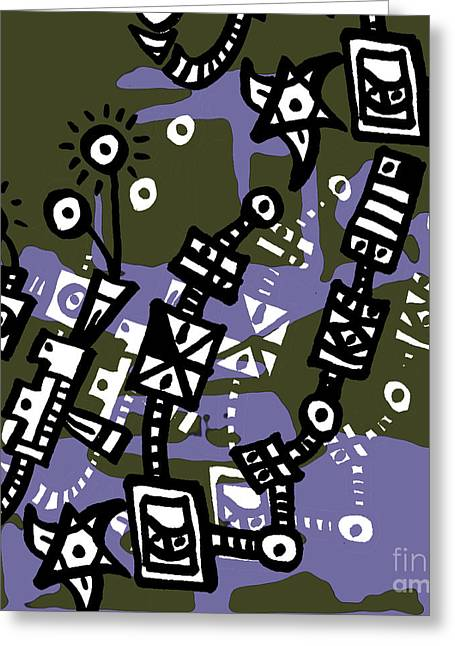 Abstraction Two Greeting Card by Daniel Katz