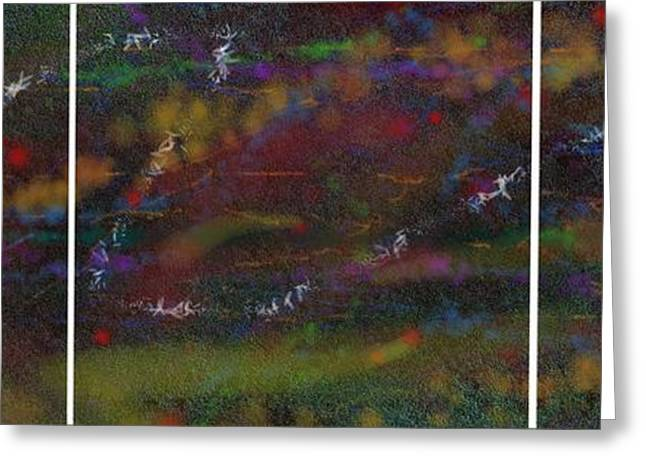 Gt Greeting Cards - Abstractych Greeting Card by Gt