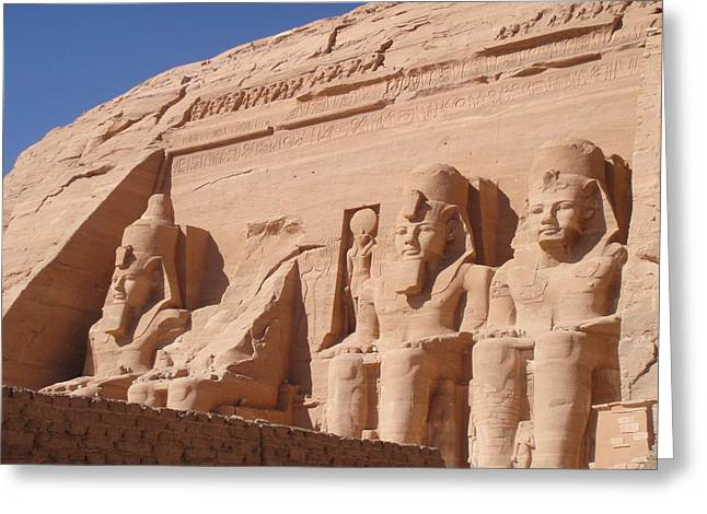 Hathor Greeting Cards - Abu Simbel Greeting Card by Richard Deurer