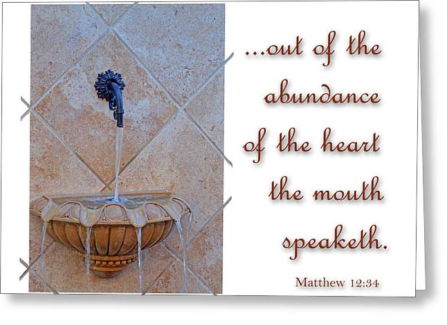 Abundance of the Heart Greeting Card by Larry Bishop