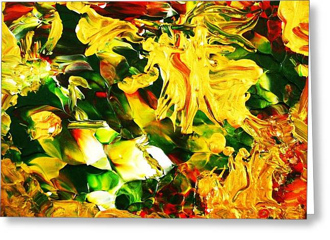 Abstract Nature Tapestries - Textiles Greeting Cards - Abundentia Greeting Card by Carmen Doreal