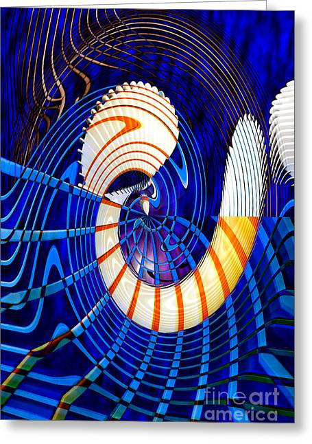 Digital Altered Greeting Cards - Abyss Greeting Card by Adriano Pecchio