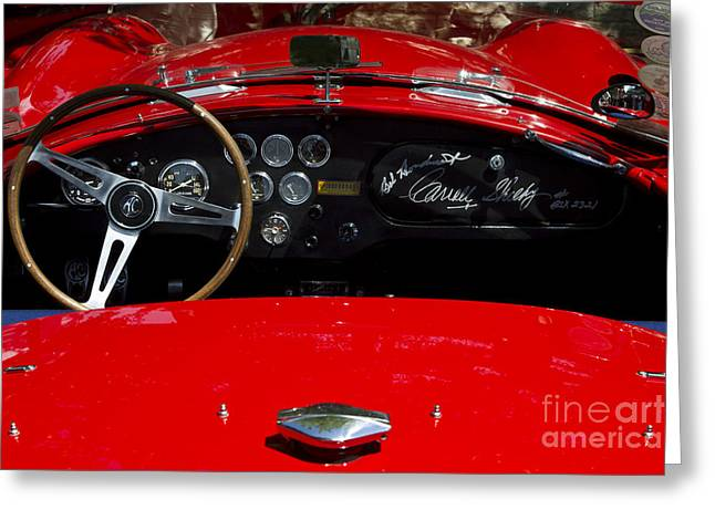 Carroll Shelby Photographs Greeting Cards - AC Cobra Greeting Card by Dennis Hedberg