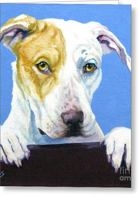 Mascots Paintings Greeting Cards - AC Pup Greeting Card by Pat Burns