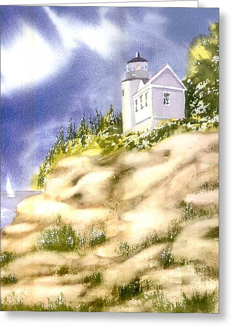 Lighthouse Greeting Cards - Acadia Lighthouse Greeting Card by Joseph Gallant