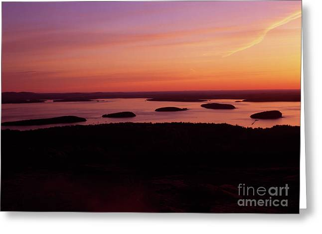 Vaction Greeting Cards - Acadia National Park Maine - Frenchman Bay Greeting Card by Erin Paul Donovan