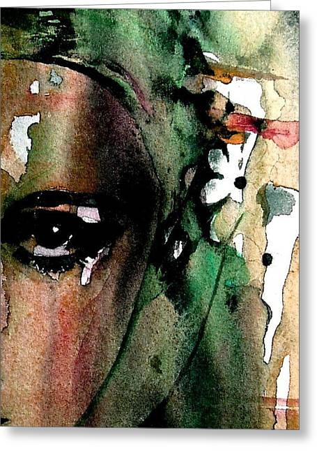 Face Greeting Cards - Accept me for what I am  Greeting Card by Paul Lovering