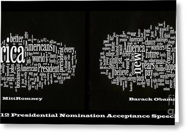 Acceptance Speeches Greeting Card by David Bearden