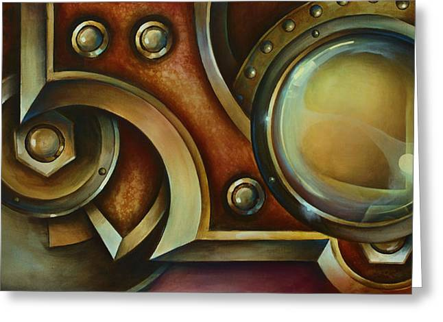 Rivets Paintings Greeting Cards - Access Denied Greeting Card by Michael Lang