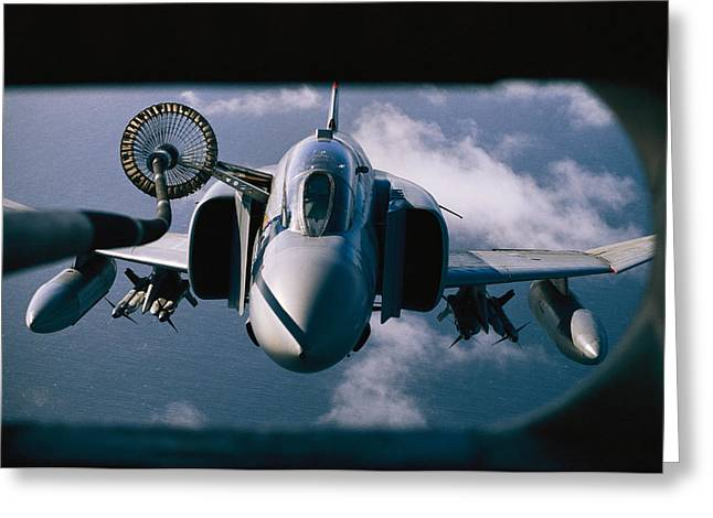 Falkland Islands Greeting Cards - According To News Reports, Refueling Greeting Card by Steve Raymer
