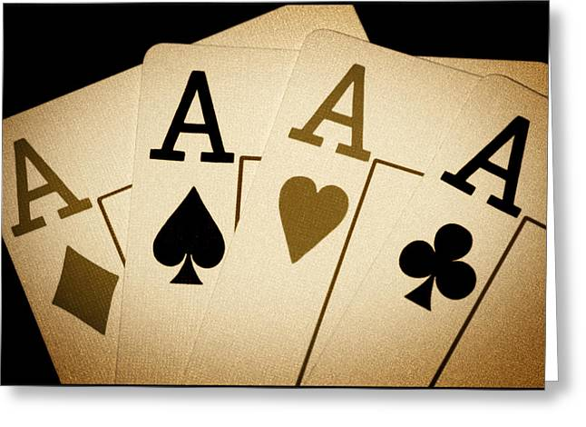 Four Aces Greeting Cards - Aces Greeting Card by Shane Rees