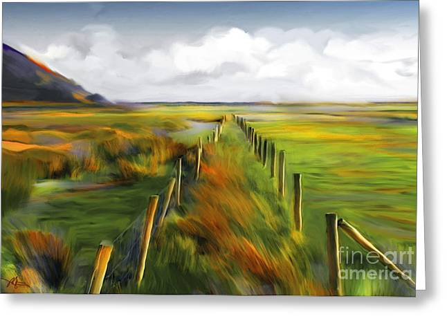 Island Mixed Media Greeting Cards - Achill Island - West Coast Ireland Greeting Card by Bob Salo