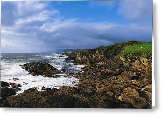Garden Statuary Greeting Cards - Achill Island, Atlantic Drive, Co Mayo Greeting Card by The Irish Image Collection